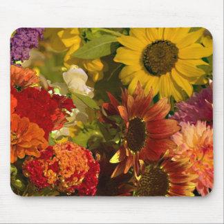 market flowers mouse pad