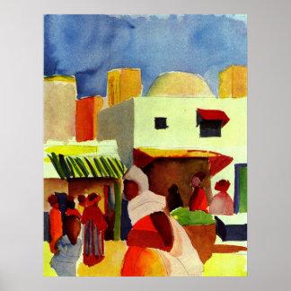 Market In Algier Poster