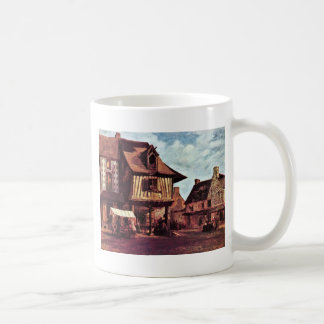 Market In Normandy By Rousseau Théodore Coffee Mug
