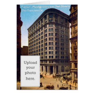 Market Montgomery and Post Streets, San Francisco Greeting Card