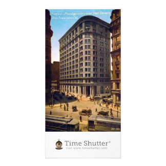 Market Montgomery and Post Streets San Francisco Photo Card