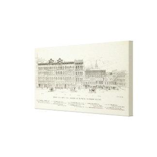 Market North side Sansome Postal Tel Bldg Canvas Print