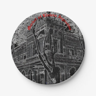 Market of Liniers (Pencil design) Paper Plate
