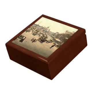 Market Place, Carlisle, Cumbria, England Large Square Gift Box