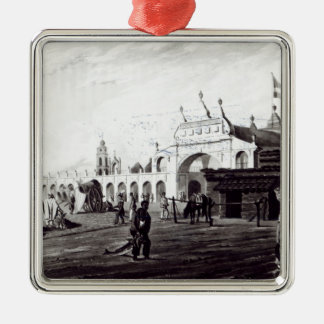 Market Place, engraved by Daniel Havell  1820 Christmas Ornament