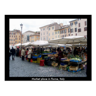 Market Place in Rome Italy Postcards