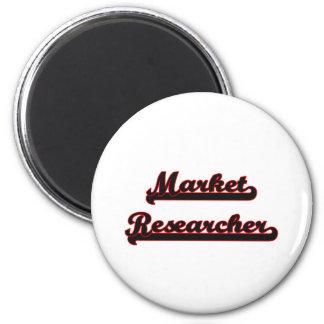 Market Researcher Classic Job Design 6 Cm Round Magnet
