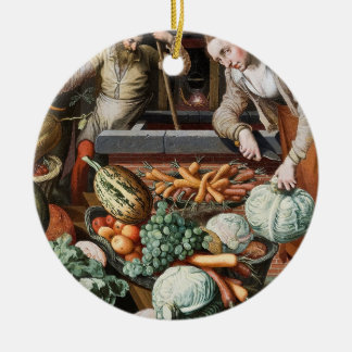 """Market Scene"" vintage art custom ornament"