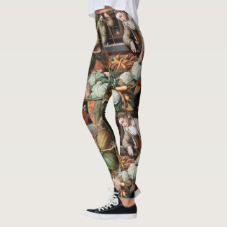 """Market Scene"" vintage art leggings"
