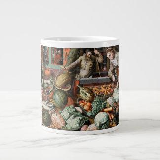 """""""Market Scene"""" vintage art mugs"""