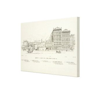 Market, Spear and Main South Side Stretched Canvas Print