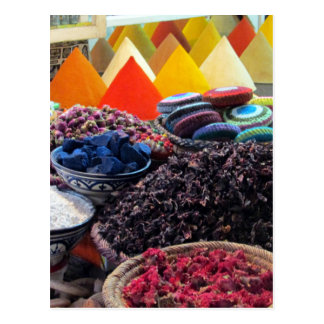 market spices postcard