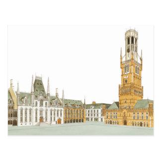 Market Square. Bruges Belgium Postcard