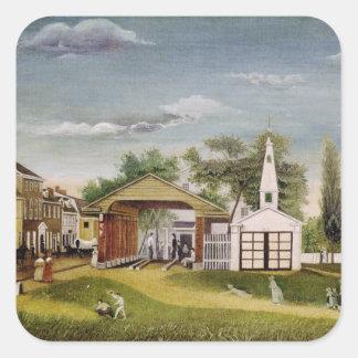 Market Square, Germantown, Pennsylvania Square Sticker