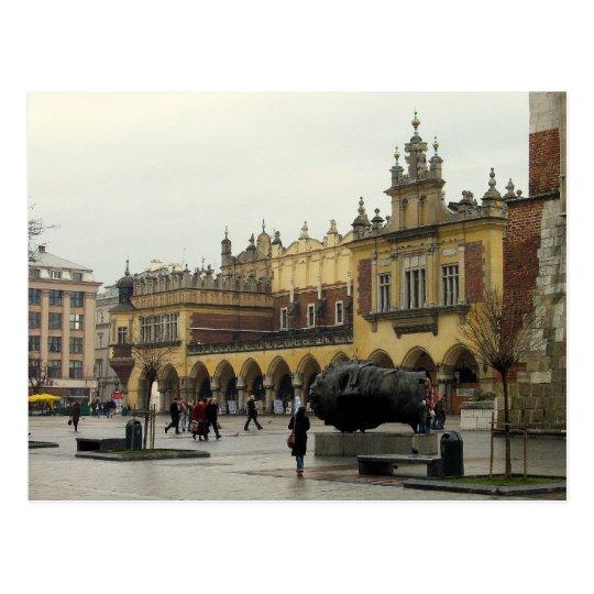 Market Square in Krakow Postcard