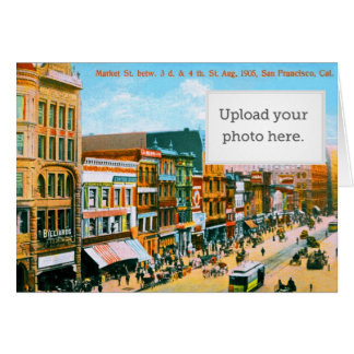 Market St. betw. 3d & 4th St Greeting Card