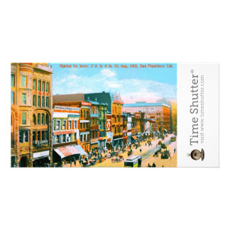 Market St betw 3d 4th St Customized Photo Card