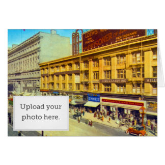 Market St East from Powell Greeting Card