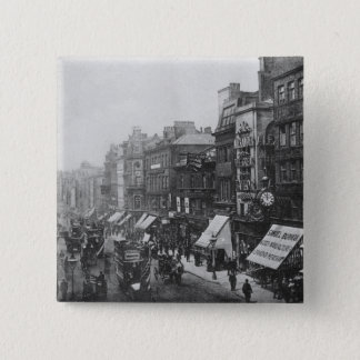 Market Street, Manchester, c.1910 15 Cm Square Badge