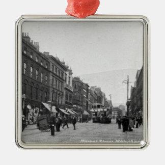 Market Street, Manchester, c.1910 2 Christmas Ornament