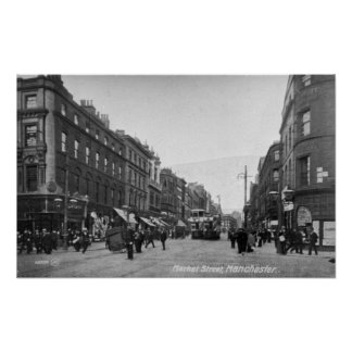 Market Street, Manchester, c.1910 2 Poster
