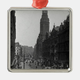 Market Street, Manchester, c.1910 Christmas Ornament
