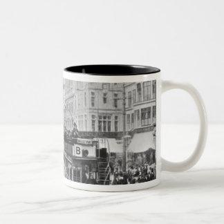 Market Street, Manchester, c.1910 Two-Tone Coffee Mug