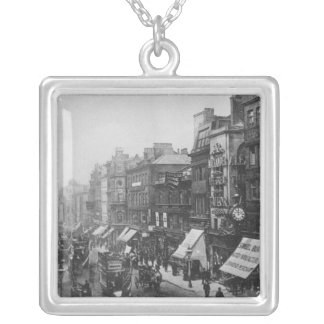 Market Street, Manchester, c.1910 Silver Plated Necklace