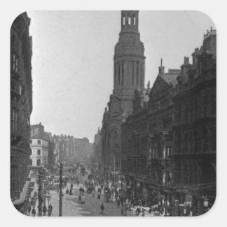 Market Street, Manchester, c.1910 Square Sticker