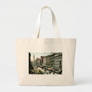 Market Street, Philadelphia , PA Canvas Bags