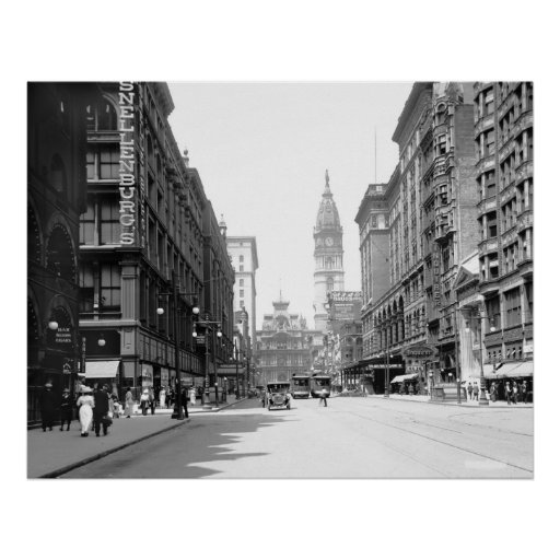 Market Street, Philly, 1910s Posters