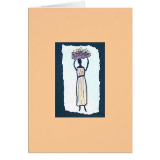 Market Woman Blank Note Card