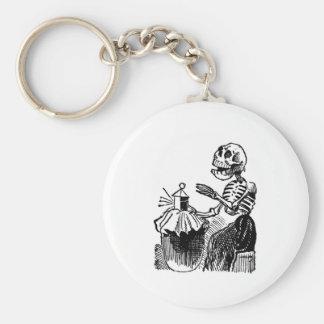 """Market Woman"" circa early 1900's. MEXICO. Basic Round Button Key Ring"