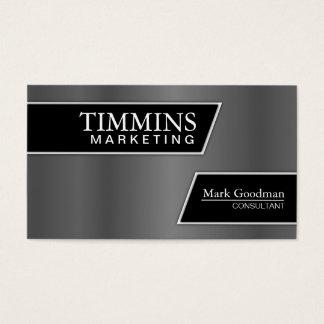 Marketing Business Card - Stylish Silver & Black