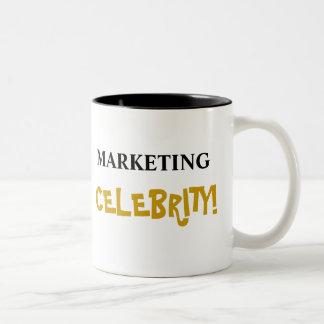 Marketing Celebrity! Add Your Name Two-Tone Coffee Mug
