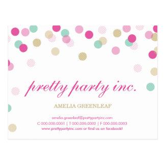 MARKETING cute confetti spots gold mint pink Postcard