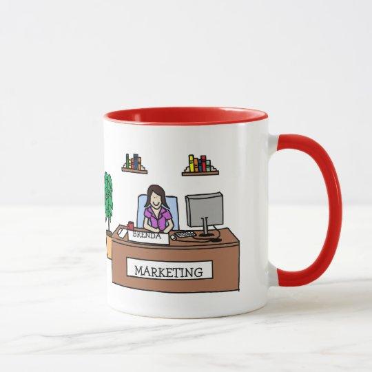Marketing guru- personalised cartoon mug