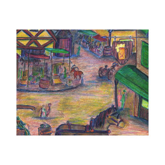 Marketplace Gallery Wrapped Canvas
