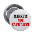 Markets Not Capitalism 6 Cm Round Badge