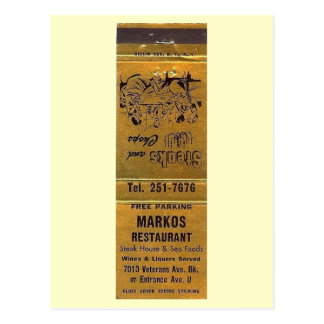 Marko's Restaurant, Brooklyn, New York Vintage Postcard