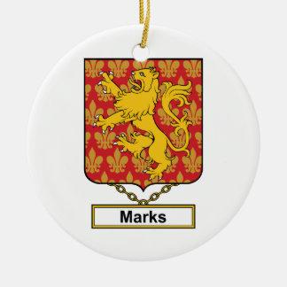 Marks Family Crest Christmas Tree Ornament