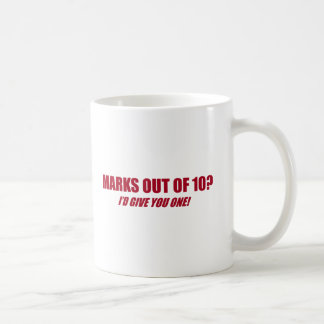 Marks out of 10 mugs