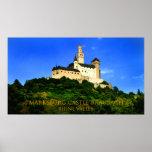 marksburg castle braubach rhine valley poster