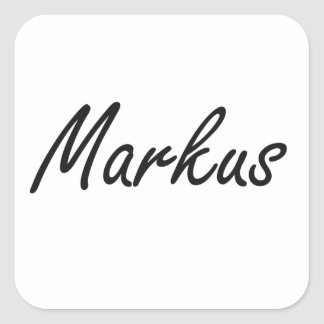 Markus Artistic Name Design Square Sticker