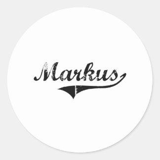 Markus Classic Style Name Classic Round Sticker