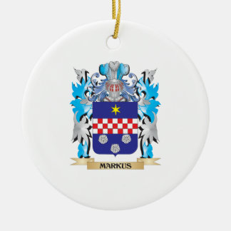 Markus Coat of Arms - Family Crest Christmas Tree Ornament