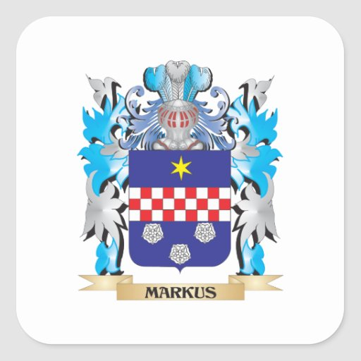 Markus Coat of Arms - Family Crest Sticker