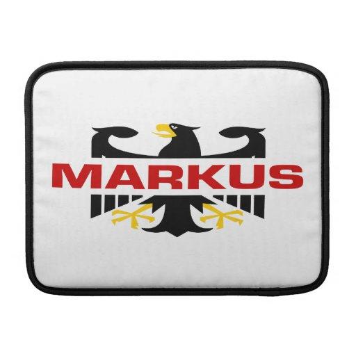 Markus Surname MacBook Air Sleeves