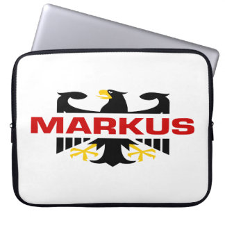 Markus Surname Laptop Computer Sleeves
