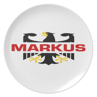 Markus Surname Party Plate